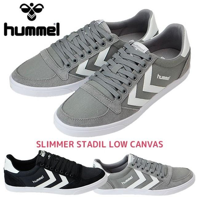 ヒュンメル レディーススニーカー hummel SLIMMER STADIL LOW CANNVAS 63112