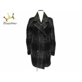 リエンダ rienda コート サイズM レディース 黒×グレー 冬物  値下げ 20190603