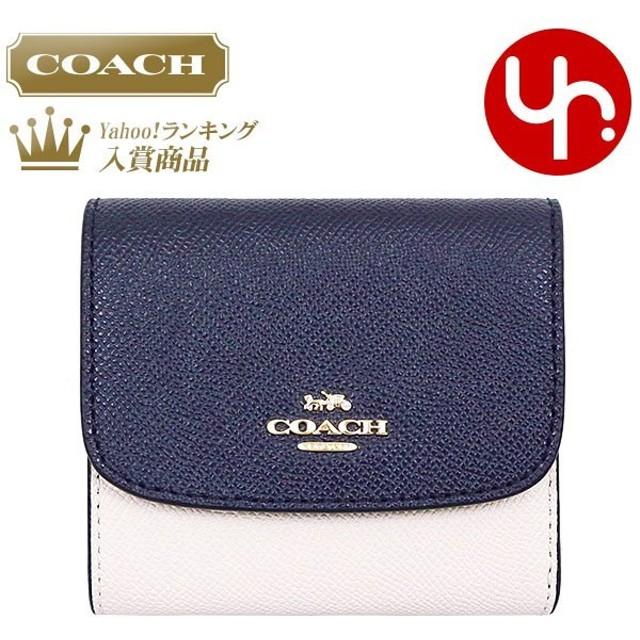 big sale 43ada c5649 コーチ COACH 財布 三つ折り財布 F26458 ミッドナイト×チョーク ...