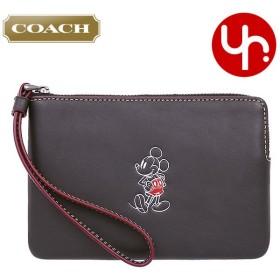 コーチ COACH 小物 ポーチ F59528 ブラック コーチ×ディズニー コラボ ミッキーマウス レザー コーナー ジップ リストレット アウトレット レディース