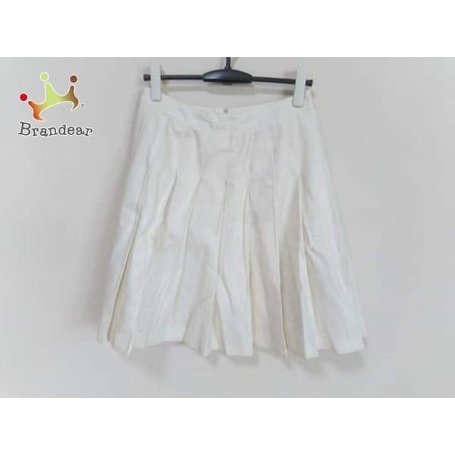 エストネーション ESTNATION スカート サイズ36 S レディース 美品 アイボリー プリーツ     スペシャル特価 20191031