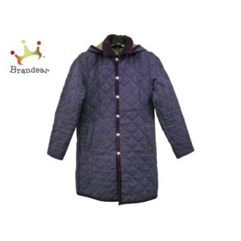 ラベンハム LAVENHAM コート サイズ38 M レディース 美品 パープル 冬物/キルティング スペシャル特価 20190908