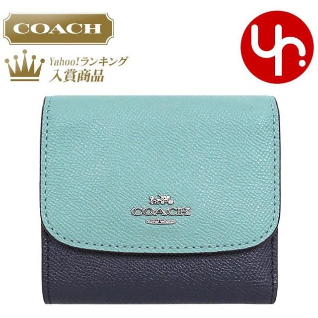 the best attitude 73b44 5b9cb コーチ COACH 財布 三つ折り財布 F29450 ブルーマルチ ...