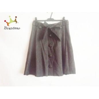 ロペ ROPE スカート サイズ11 M レディース 美品 ダークブラウン×黒 スペシャル特価 20190404
