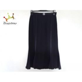 イタリヤ 伊太利屋/GKITALIYA ロングスカート サイズ5 XS レディース 黒         スペシャル特価 20190928