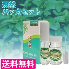 ハッカ油セット 北見 天然ハッカスプレー12ml + 詰替用ボトル20ml 薄荷 天然 ミント