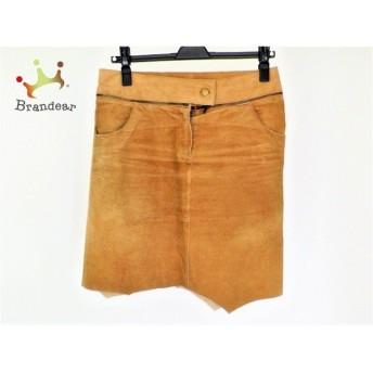 アプワイザーリッシェ Apuweiser-riche スカート サイズ2 M レディース ベージュ レザー スペシャル特価 20190522