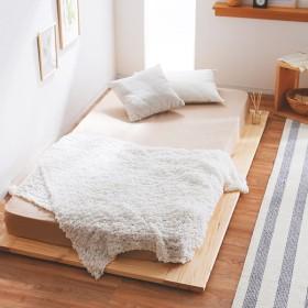 ベッド シングル ベッドフレーム 木製 すのこ ロー フラット パイン スノコ スマート 天然木 無垢材 フロア おしゃれ
