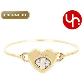 0093e6394dbe コーチ COACH アクセサリー ブレスレット F54488 ゴールド×シルバー バレンタイン ターンロック ハート フリップ トップ バングル  アウトレット