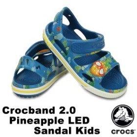 【送料無料対象外】クロックス(CROCS) クロックバンド 2.0 パイナップル LED サンダル キッズ サンダル【ベビー 子供用】[AA]【40】