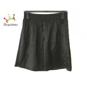 アニエスベー agnes b ミニスカート サイズ2 M レディース 美品 黒 サテン           スペシャル特価 20191025