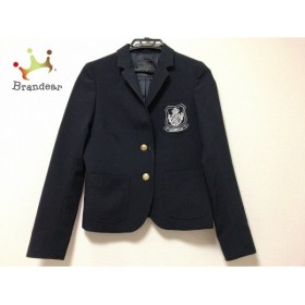 マウジー moussy ジャケット サイズ1 S レディース 黒×白 刺繍/肩パッド                 スペシャル特価 20191016