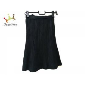 アルマアンローズ ALMA EN ROSE スカート サイズ36 S レディース 黒 プリーツ           スペシャル特価 20190629