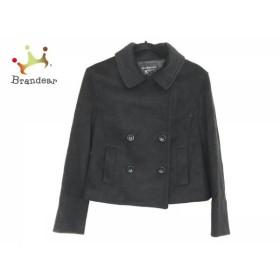 ストロベリーフィールズ STRAWBERRY-FIELDS Pコート サイズ2 M レディース 美品 黒 冬物          値下げ 20190401