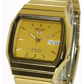 SEIKO 5 セイコー5 逆輸入 日本製 自動巻き 電池交換不要 メンズ 腕時計 SNXK90J1 ゴールド メタルベルト 【激安】 【SALE】