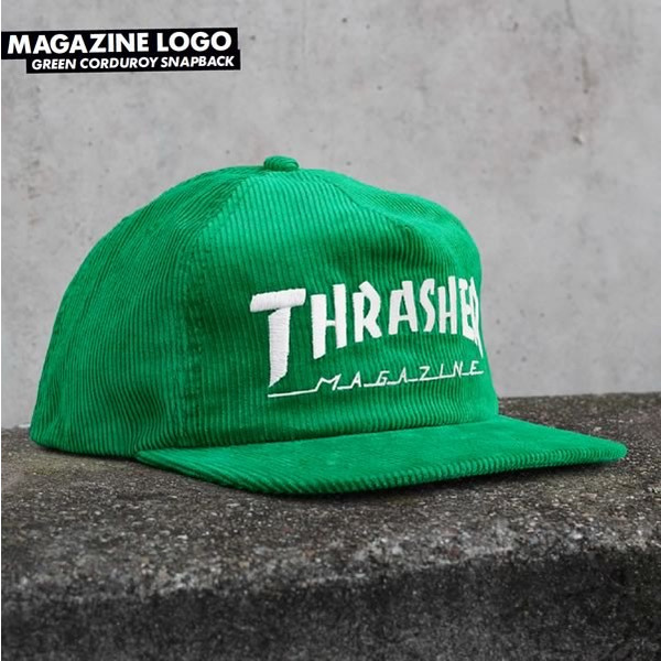 0de37325cde does not apply. Thrasher Magazine SKATE MAG LOGO Snapback Skateboard Hat  CORDUROY BLACK