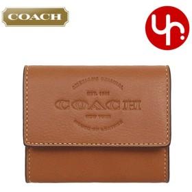 コーチ COACH 財布 コインケース F24652 サドル ナチュラル スムース レザー コインパース アウトレット メンズ レディース