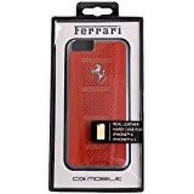 送料無料!(フェラーリ) Ferrari iPhone6/6s 458 レザー ドット ハードケース シルバーPH / レッド