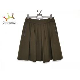 トゥモローランド TOMORROWLAND スカート サイズ38 M レディース 美品 カーキ×ダークブラウン                 スペシャル特価 20190401