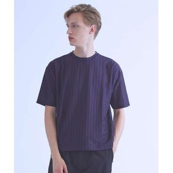 【30%OFF】 アバハウス ストライプオーバーサイズTシャツ メンズ ブラウン 48 【ABAHOUSE】 【セール開催中】