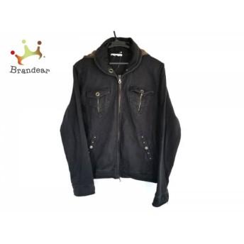 ミッシェルクラン MICHELKLEIN コート サイズ46 XL レディース 黒 春・秋物/ジップアップ 値下げ 20190225