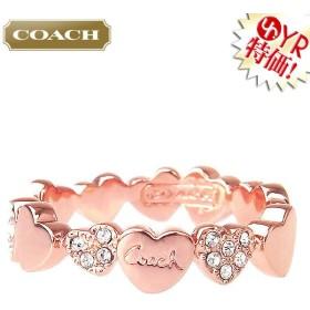 コーチ COACH アクセサリー 指輪 F90749 ローズゴールド×クリア バレンタイン ハート パヴェ リング (ボックス付き) (7) アウトレット レディース
