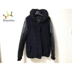 アズールバイマウジー AZUL by moussy ダウンジャケット レディース 黒×ダークネイビー 冬物  スペシャル特価 20190602