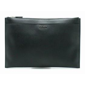 17f4484b3126 (バッグ)PRADA プラダ クラッチバッグ セカンドバッグ 型押しレザー NERO ブラック 黒 2NG001