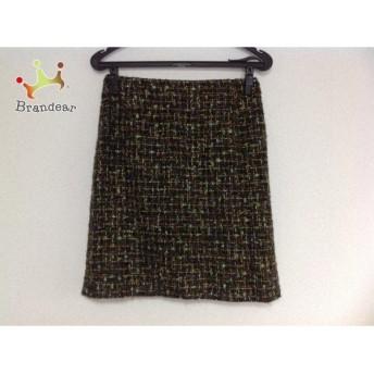 ルーニィ LOUNIE スカート サイズ38 M レディース グリーン×黒×マルチ       スペシャル特価 20191102