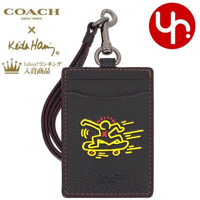 a8790a9cb1eb コーチ COACH 小物 カードケース F11986 ブラック コーチ×キース・ヘリング ペブルド レザー ランヤード ID