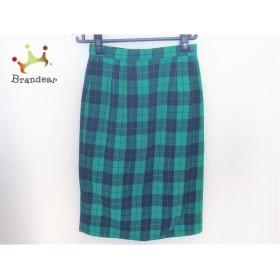 バーウィック Berwick 巻きスカート サイズ9 M レディース グリーン×黒 チェック柄                 スペシャル特価 20190308