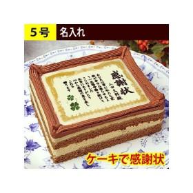 ケーキで感謝状 名入れ 5号 ケーキ お祝い スイーツ 誕生日 退職 還暦 古希 米寿 祝い 80代 贈り物 ギフト