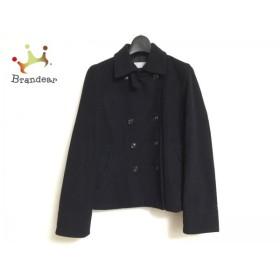 バーニーズ BARNEYSNEWYORK コート サイズ40 M レディース 黒 ショート丈/冬物  スペシャル特価 20190602