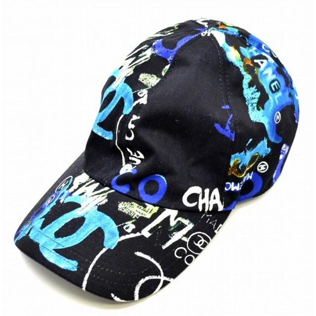 b7f6e12be53f (アパレル)CHANEL シャネル ハワイ限定 キャップ 帽子 ココマーク ロゴ柄 黒 ブラック ブルー