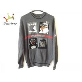 ハーディエイミス 長袖セーター サイズM メンズ 美品 ダークグレー×黒×マルチ             スペシャル特価 20191010