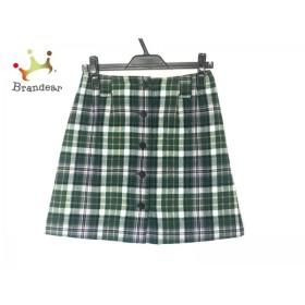 ヨークランド 巻きスカート サイズ66 レディース グリーン×アイボリー×マルチ チェック柄         スペシャル特価 20190518