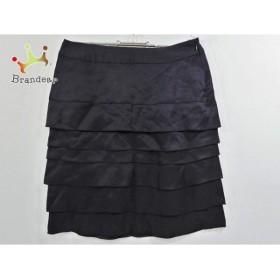 ボールジー BALLSEY スカート サイズ36 S レディース 黒×ダークグレー フリル               スペシャル特価 20190401