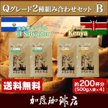Qグレード2種組み合わせセットB(Qウガ×2・Qメキ×2)/珈琲豆 コーヒー豆 コーヒー