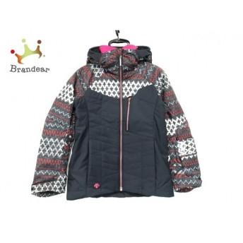 デサント ダウンジャケット サイズS レディース 美品 DRA-6240W ダークグレー×白×レッド 冬物 スペシャル特価 20190523