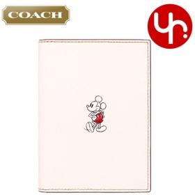 コーチ COACH 小物 カードケース F59411 チョーク コーチ×ディズニー コラボ ミッキーマウス カーフ レザー パスポート ケース アウトレット レディース