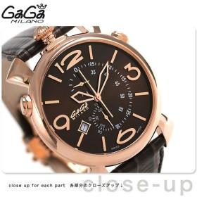 15日なら全品5倍以上でポイント最大25倍 ガガミラノ シン クロノグラフ 46MM スイス製 メンズ 5098.03BW GaGa MILANO 腕時計 革ベルト