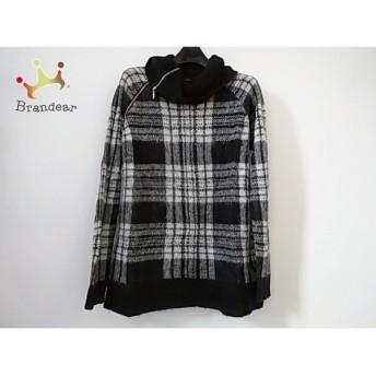 アズールバイマウジー 長袖セーター サイズM レディース 美品 黒×グレー×ライトグレー 新着 20190325