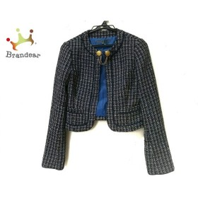ブラックバイマウジー ジャケット サイズ2 M レディース 美品 黒×マルチ チェック柄       スペシャル特価 20190821