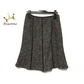 ニジュウサンク 23区 スカート サイズ36 S レディース 美品 アイボリー×黒             スペシャル特価 20190304