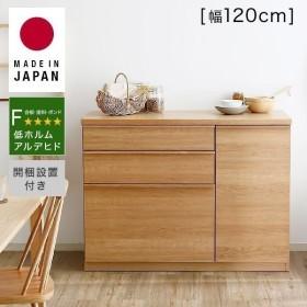 キッチンカウンター 作業台 間仕切り 下 収納 食器棚 おしゃれ 完成品 ダイニング レンジ ボード スライド 国産 日本製 ロウヤ LOWYA