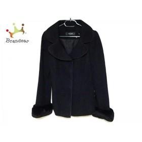 コトゥー COTOO コート サイズ38 M レディース 美品 黒 レッキスラビットファー/冬物         スペシャル特価 20190308