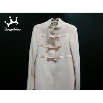 ジーザスディアマンテ JESUS DIAMANTE コート 38 レディース ピンク リボン/冬物 スペシャル特価 20190913