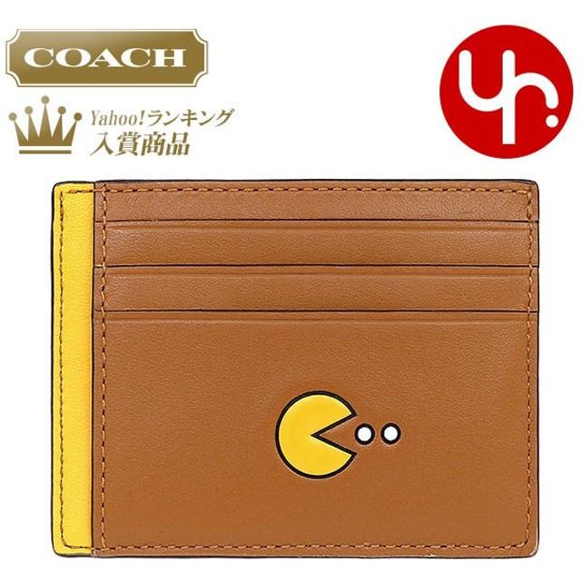 191aeeee74fa コーチ COACH 小物 カードケース F56055 サドル コーチ×パックマン コラボ レザー カード ケース アウトレット メンズ