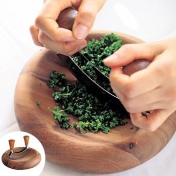 【ポイント最大26倍】ハーブチョップ BONO BONO ボーノボーノ 木製 キッチンツール ( 包丁 キッチン用品 メッザルーナ )