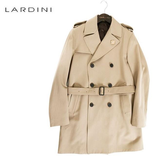 LARDINI ラルディーニ メンズ IC23627 IBR47639 ウール混コットン Pコート ピーコート ダブルブレス カラー1/ダークベージュ 126360